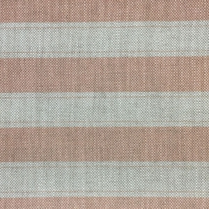 Sandown Stripe on Hopsack Linen - Pale Dogwood