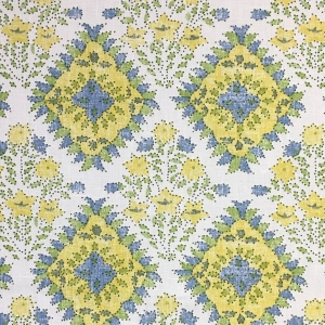 Yamuna on Chelsea Linen -  Primrose Yellow