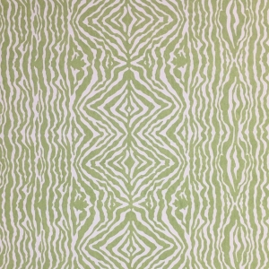Grevy's Zebra Stripe on Non Woven Wide Width Wallpaper - Greenery