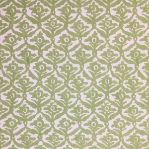 Kate Trellis on Non Woven Wide Width Wallpaper - Greenery