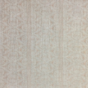 Rustic Alison Border on Natural Hopsack Linen - Pale Dogwood