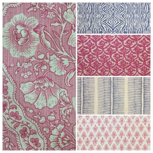 Antoinette - Pink Yarrow & Niagara Blue