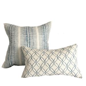 Cornwall Stripe Large Cushion & Minoru Small Cushion