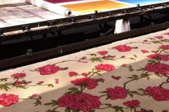 Custom Printing Tree Peony On Hessian Stripe