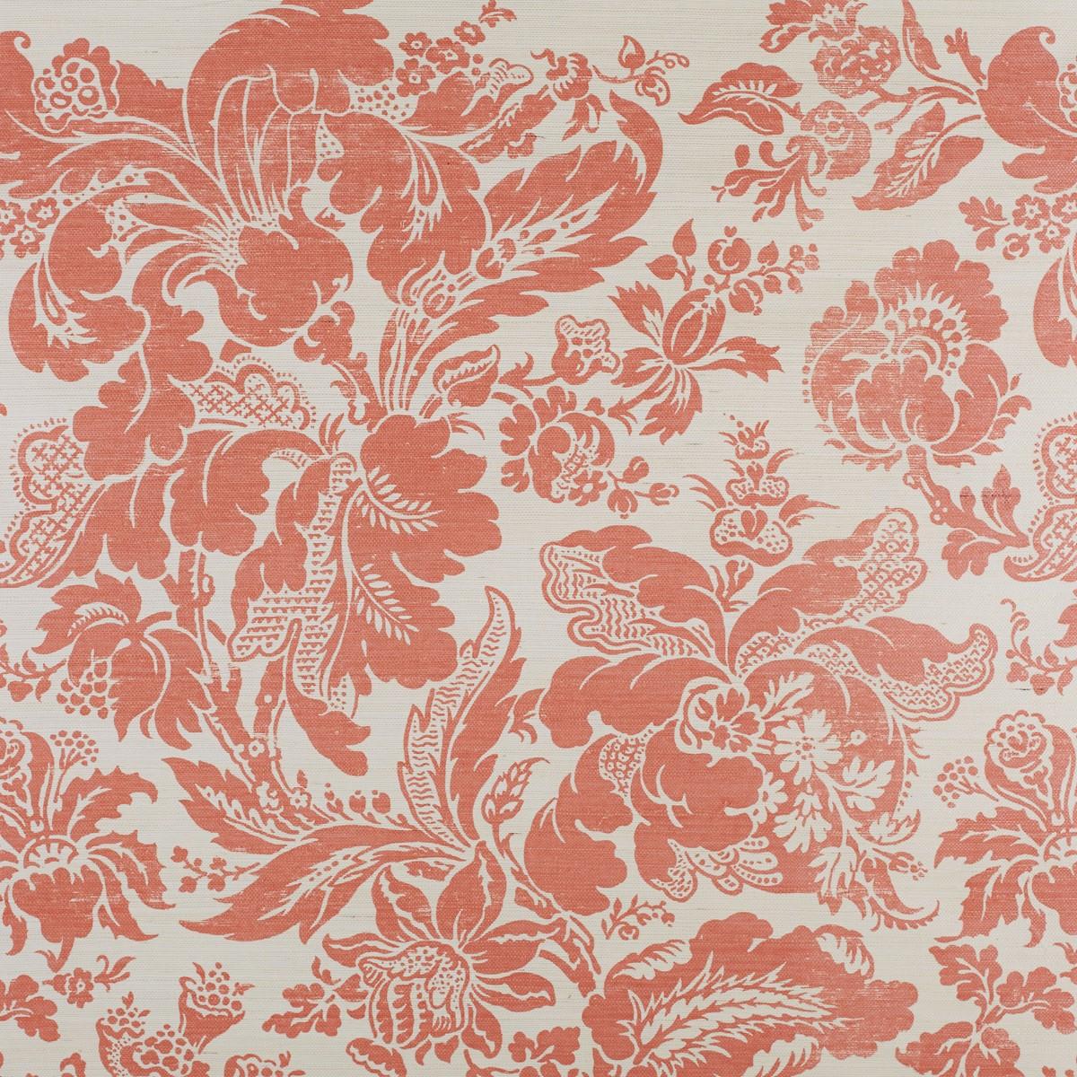 Pink Grasscloth Wallpaper: Bernard Thorp Fabric And