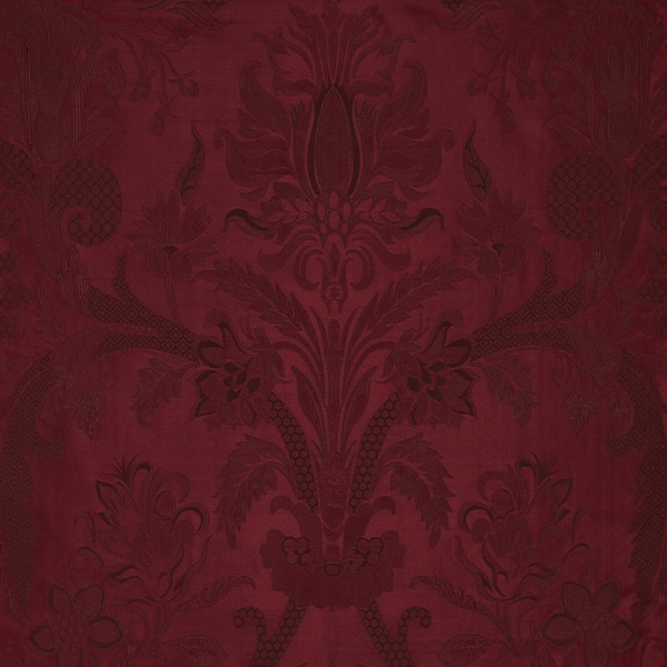Cambourne Silk Damask Burgundy Bernard Thorp Fabric