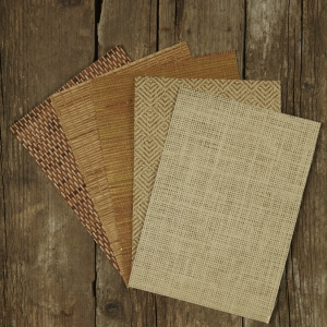 Natural Grass & Paper Wallpaper - Woven
