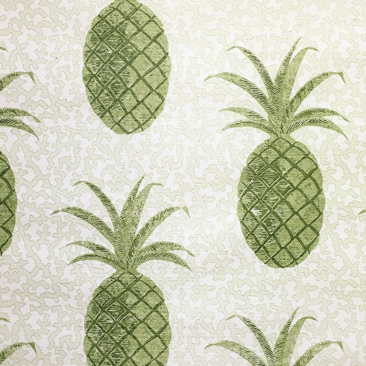 Pineapple On Coral Green